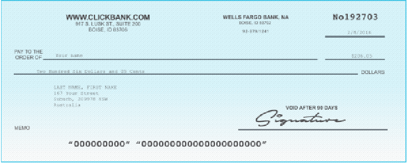 Clickbank Pay Cheque
